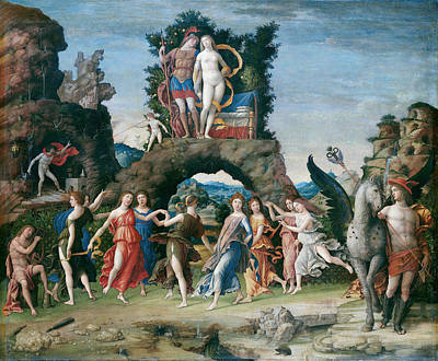 Hephaestus Wall Art - Painting - Parnassus  by Andrea Mantegna
