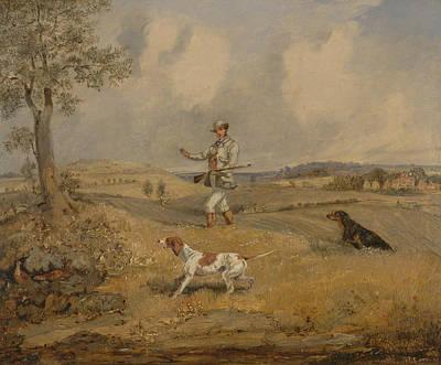 Painting - Partridge Shooting by Treasury Classics Art