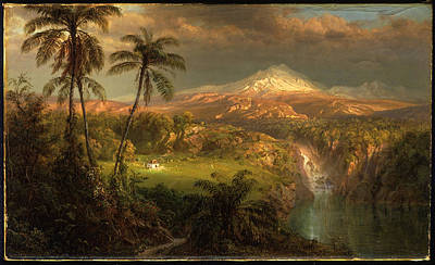 Passing Shower In The Tropics Art Print by Frederic Edwin