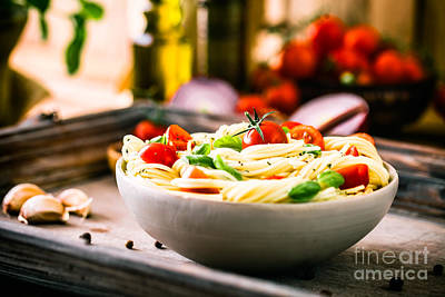 Pasta With Olive Oil  Print by Mythja Photography