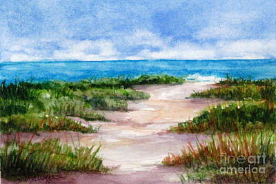 Painting - Path To The Beach by Suzanne Krueger