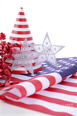 Patriotic Party Decorations For Usa Events Print by Milleflore Images