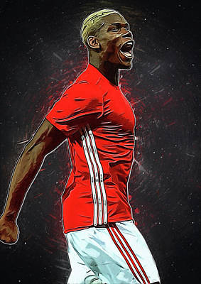 Cristiano Ronaldo Digital Art - Paul Pogba by Semih Yurdabak