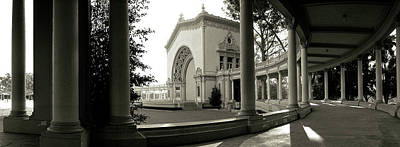 Pavilion In A Park, Balboa Park, San Art Print