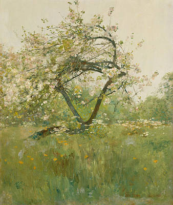 Peach Blossom Painting - Peach Blossoms - Villiers-le-bel by Childe Hassam