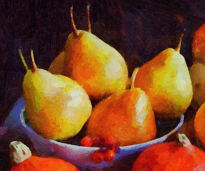 Fruit Digital Art - Pear Art Picture by Michael Vicin