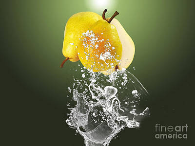 Pear Mixed Media - Pear Splash Collection by Marvin Blaine