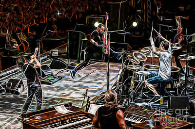 Pearl Jam Collection Print by Marvin Blaine