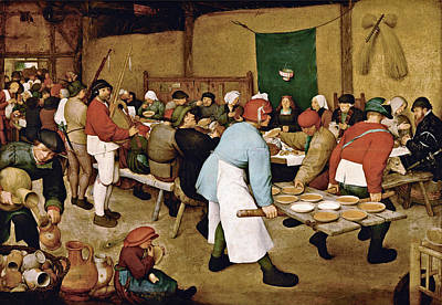Peasant Wedding Art Print by Pieter Bruegel the Elder
