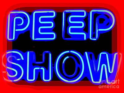 Digital Art - Peep Show by Ed Weidman