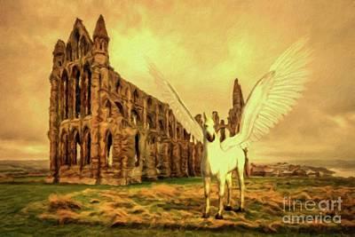 Pegasus Painting - Pegasus Vision by Mary Bassett
