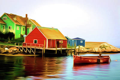 Painting - Peggy's Cove by Andre Faubert