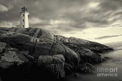 Photograph - Peggys Cove Lighthouse Nova Scotia by Nick Jene