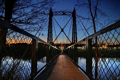 Photograph - 2 Penny Bridge by John Meader