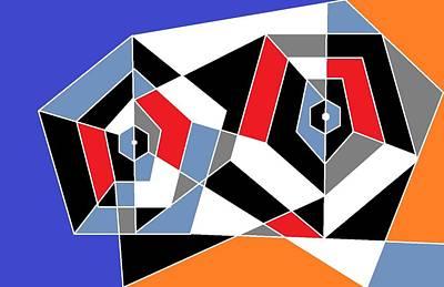 2 Pentagons Art Print