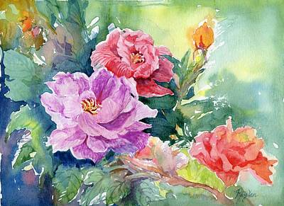 Painting - Peony by Ping Yan