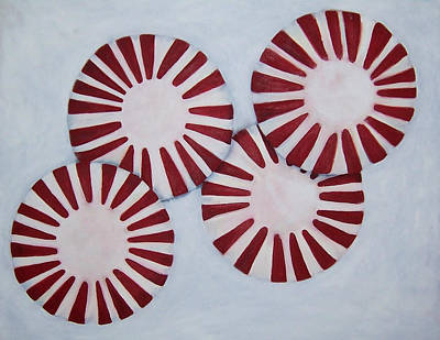 Painting - Peppermint Twist by Penny Everhart
