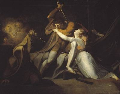 Night Angel Painting - Percival Delivering Belisane From The Enchantment Of Urma by Henry Fuseli