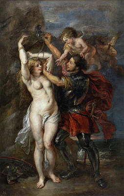 Myth Painting - Perseus Freeing Andromeda by Peter Paul Rubens