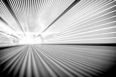 Photograph - Perspective Point Of View On A Moving Walkway  by Alex Grichenko
