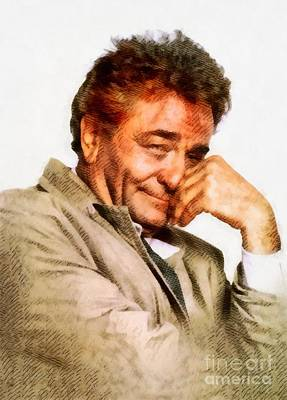 Musicians Royalty Free Images - Peter Falk, Columbo, by John Springfield Royalty-Free Image by John Springfield