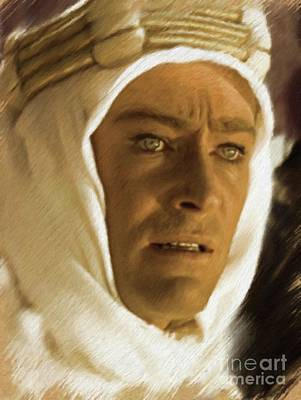 Painting - Peter O'toole As Lawrence Of Arabia by Mary Bassett