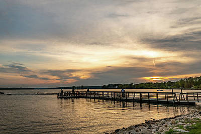 Photograph - Pewaukee Lake Sunset by Randy Scherkenbach