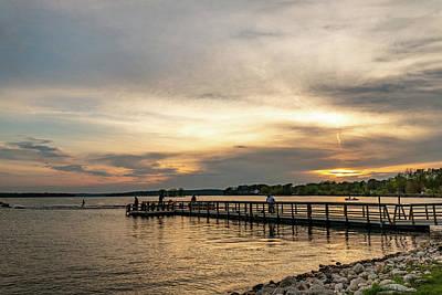 Photograph - Pewaukee Lake Sunset by Randy Scherkenbach