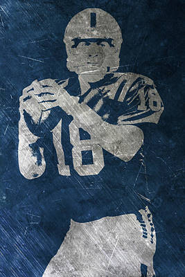 Football Painting - Peyton Manning Colts by Joe Hamilton