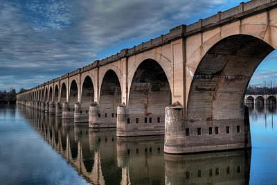 Digital Art - Philadelphia - Reading Rr Bridge by Patrick Groleau