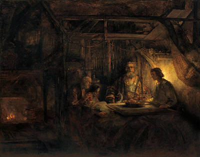 Painting - Philemon And Baucis by Rembrandt van Rijn