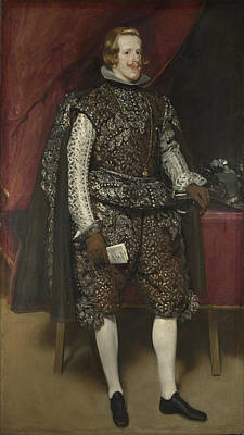 Digital Art - Philip Iv Of Spain In Brown And Silver by Diego Velazquez