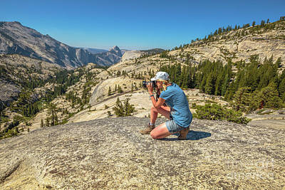 Photograph - Photographer On Olmsted Point by Benny Marty