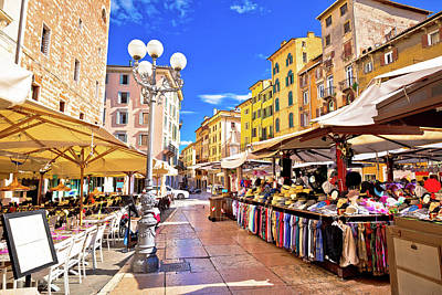 Photograph - Piazza Delle Erbe In Verona Street And Market View by Brch Photography