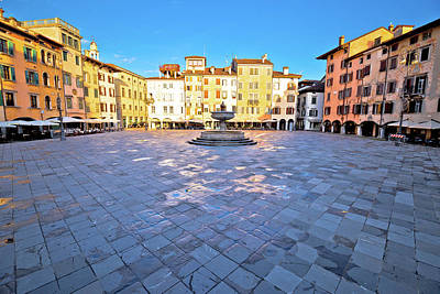 Photograph - Piazza San Giacomo In Udine Landmarks View by Brch Photography
