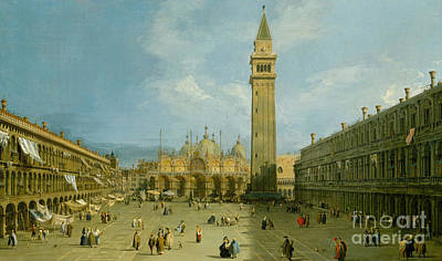 Dome Painting - Piazza San Marco by Canaletto