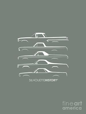 American Digital Art - Pickupino Silhouettehistory by Gabor Vida