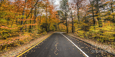 Pierce Stocking Drive In Fall Art Print by Twenty Two North Photography