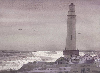 Painting - Pigeon Point Light by Donald Maier
