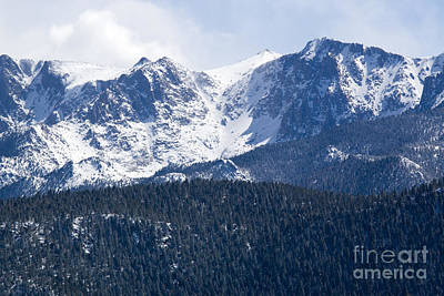 Steven Krull Royalty-Free and Rights-Managed Images - Pikes Peak Colorado in Fresh Snow by Steven Krull