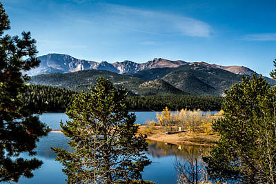 Photograph - Pikes Peak Over Crystal Lake by Ron Pate