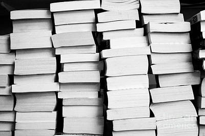 Pile Of Stacks Of Used Paperback Books In The Uk Art Print