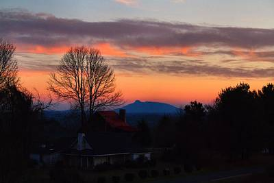 Photograph - Pilot Mountain Sunset by Kathryn Meyer