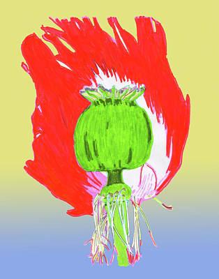 Jordan Drawing - Pin Ink Water Color by Jay Pumphrey Jr