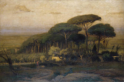Farming Painting - Pine Grove Of The Barberini Villa by George Inness