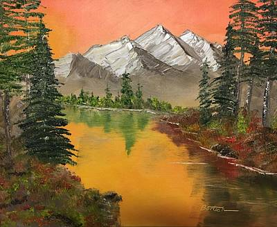 Painting - Pine Lake by David Bartsch