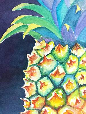 Painting - Pineapple by Carlin Blahnik CarlinArtWatercolor