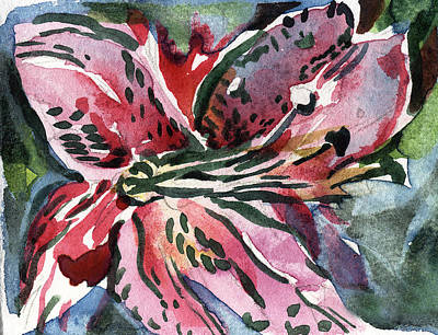 Pink Day Lily Print by Mindy Newman