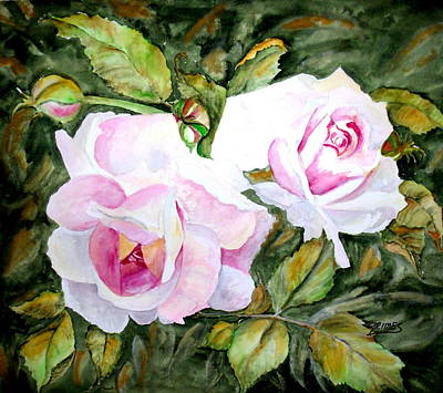 Painting - Pink Roses by Carol Grimes