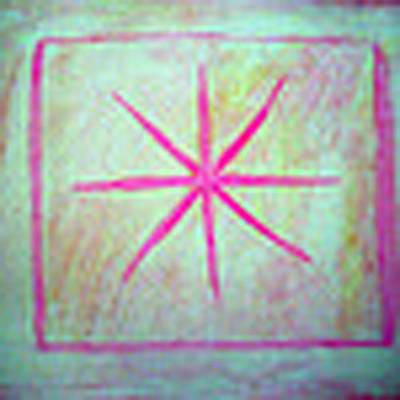 Pink Star Art Print